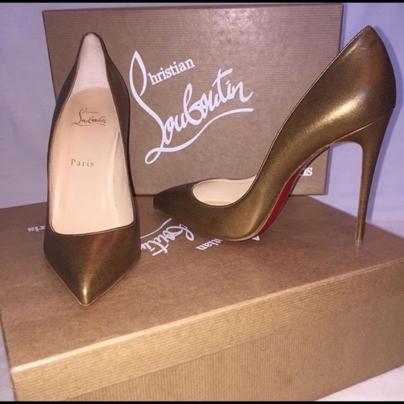7ea458832f Christian Louboutin Shoes - Christian Louboutin Bronze Pigalle Follies - 39
